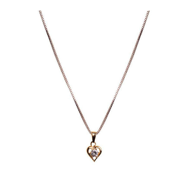 Modern Golden Heart Shaped Pendant Necklace - Giftingnation - 1