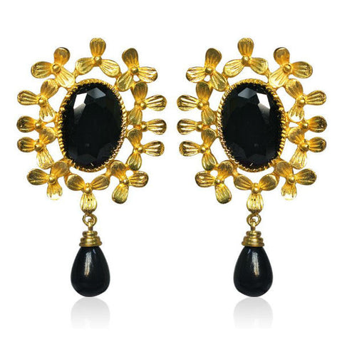Alluring Golden Floral Earrings - Giftingnation