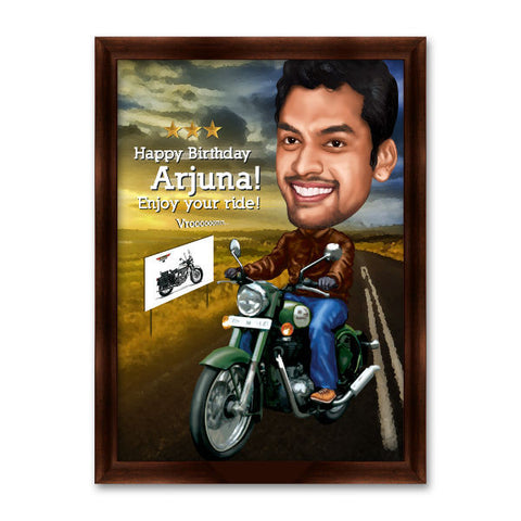 Enjoy your Ride Personalised Caricature Gift - Giftingnation