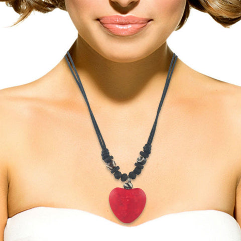 Modern Red Heart Pendant Necklace - Giftingnation - 2