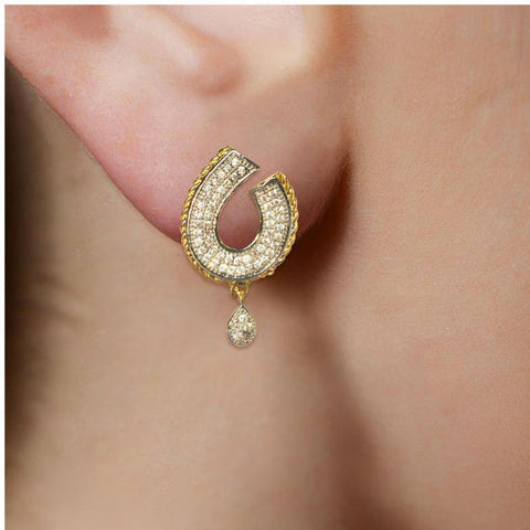 Classy CZ Adorned Stud Earrings - Giftingnation - 2