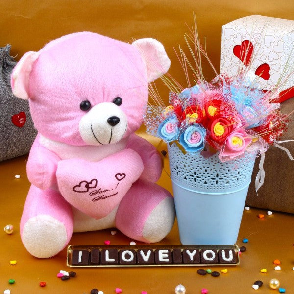 Love U Chocolate and Teddy Hamper for MOM