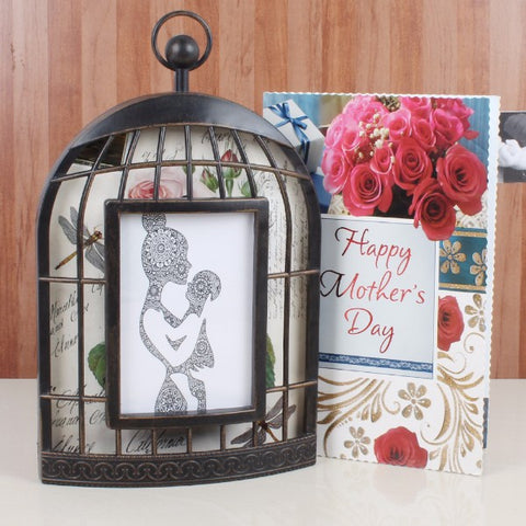 Cage Frame with Mothers Day Greeting Card