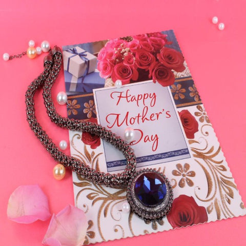 Beautiful Necklace with Mothers Day Greeting