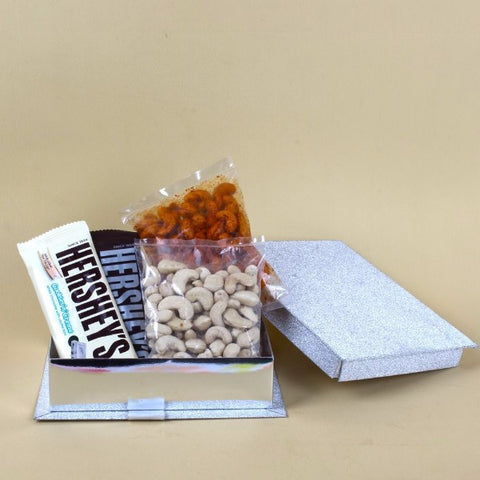 Cashews Nuts With Hersheys Chocolate in a Box