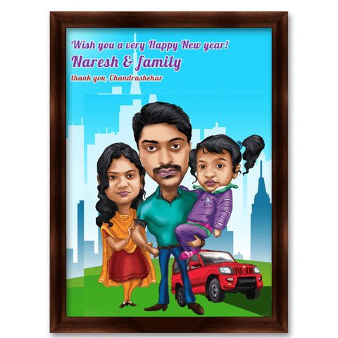 Family Caricature Gift 5 - Giftingnation