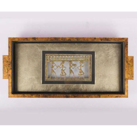 Gold Decorative Serving Tray - Giftingnation - 1