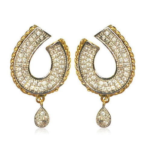 Classy CZ Adorned Stud Earrings - Giftingnation - 1