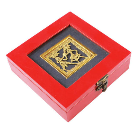 Amazingly Red Wooden Chocolate Box - Giftingnation - 1