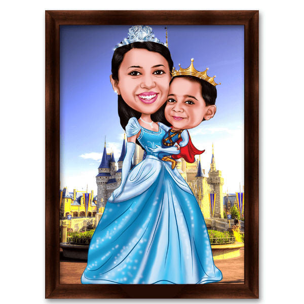 Family Caricature Gift 2 - Giftingnation