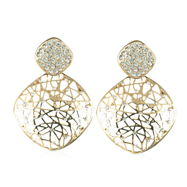 Golden Elegance Earrings - Giftingnation - 1