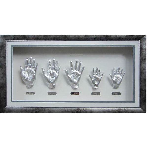 3D Casting of Silver Hands of Family of 5