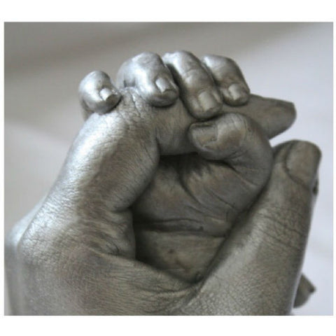 3D Casting of Baby Hand Holding Parents Finger
