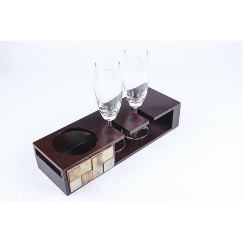 Champagne Tray with Glasses - Giftingnation - 2