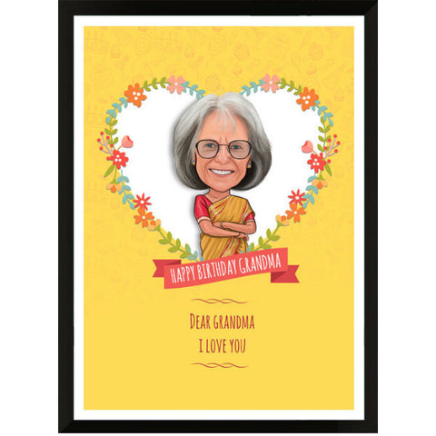 Caricature Birthday Gift for Grandma - Giftingnation