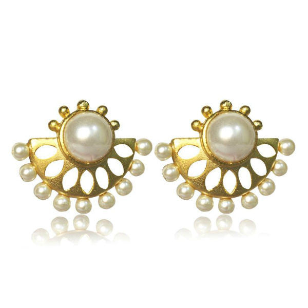 Dazzling Pearl Studded Earrings - Giftingnation - 1