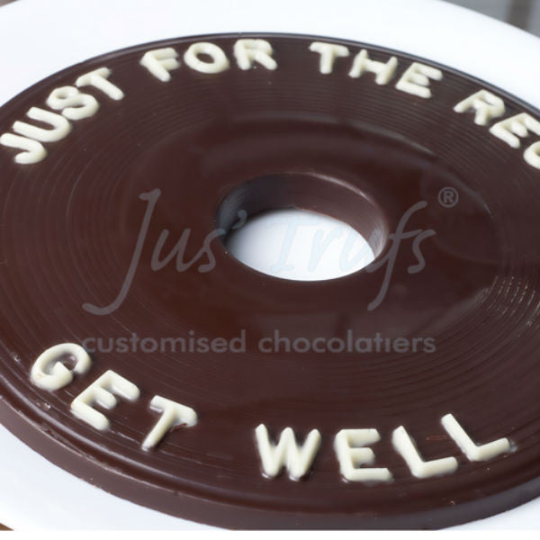 Just For The Record Get Well Personalised Chocolate Gift Box - Giftingnation