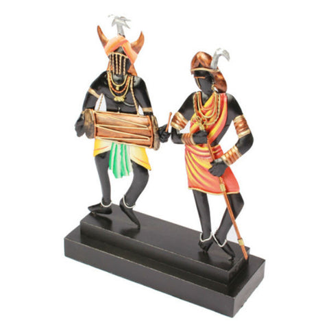 Adavasi Couple Table Showpiece - Giftingnation - 2