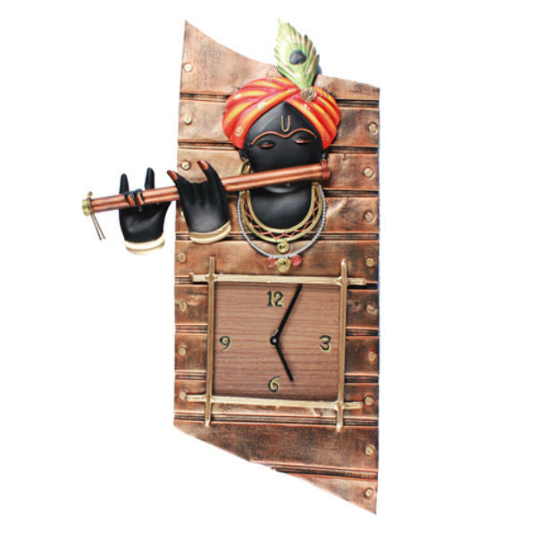 Lord Krishna Wall Clock - Giftingnation - 1