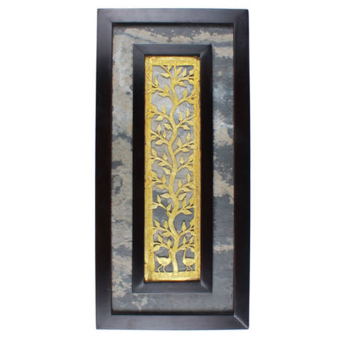 Amalgamated Dhokra And Stone Wall Hanging - Giftingnation - 1
