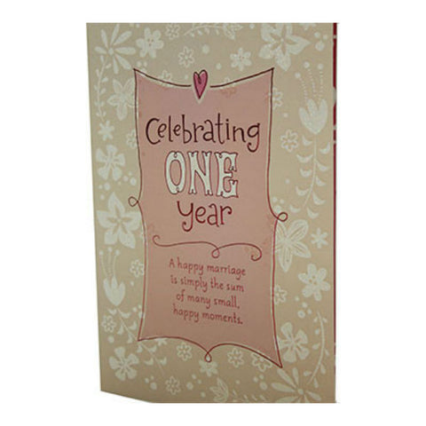 1st Year Anniversary Hallmark Greeting Card - Giftingnation
