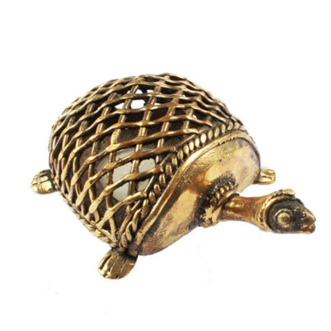 Brass Tortoise Candle Holder - Giftingnation - 1