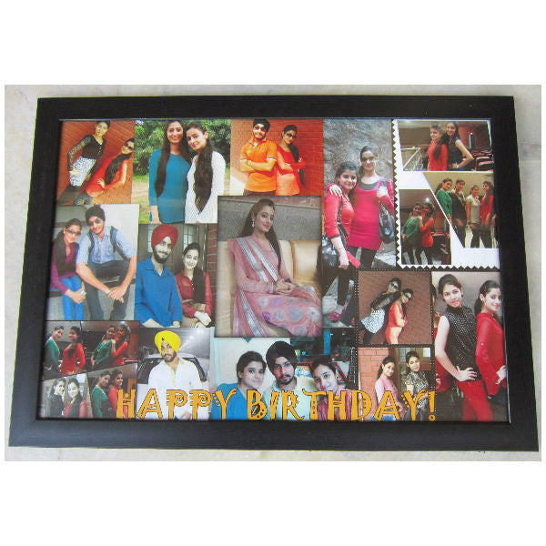 Personalised Wooden Photo Collage Frame - Giftingnation