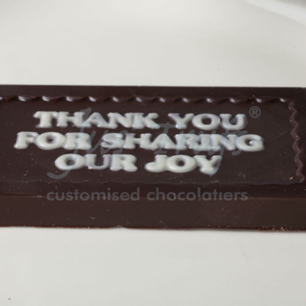 Thank You For Sharing Our Joy Personalised Chocolate - Giftingnation