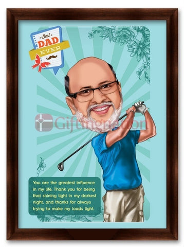 Caricature From Photo Best Dad Ever - Giftingnation