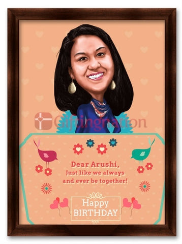 Caricature From Photo Birthday Always Together - Giftingnation