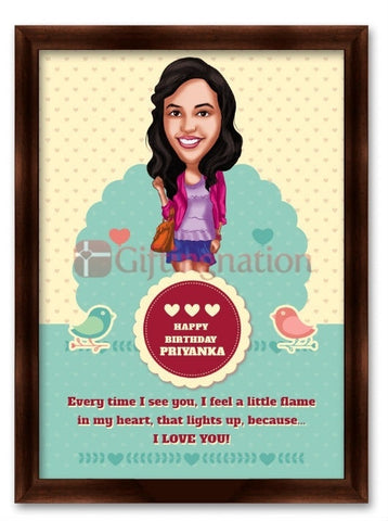 Caricature From Photo Birthday Light Up - Giftingnation