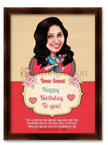 Caricature From Photo Birthday Special Day - Giftingnation