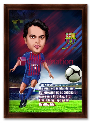 Caricature From Photo Football Messi Fan - Giftingnation