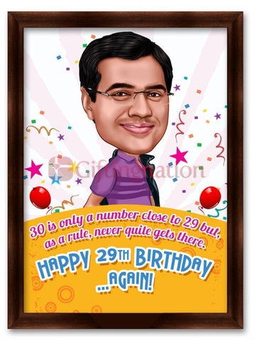 Caricature From Photo Happy 29th Birthday - Giftingnation