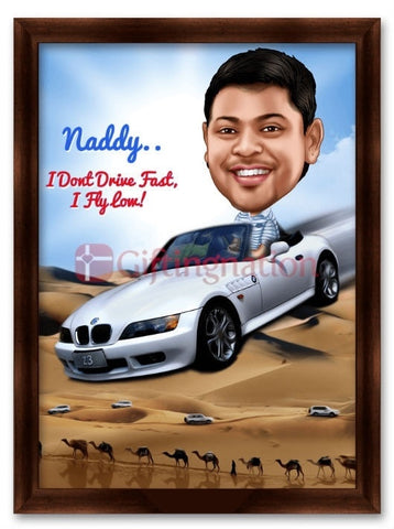 Caricature From Photo You are a Racer - Giftingnation