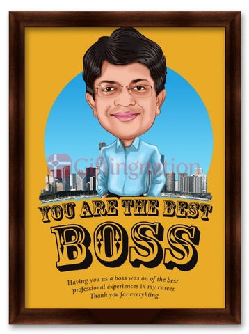 You are the Best Boss Caricature Gift - Giftingnation