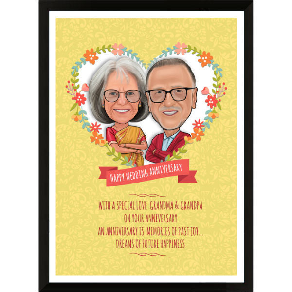 Caricature Gift for Grandparents - Giftingnation