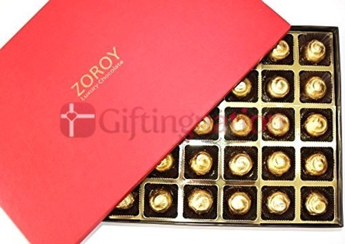 Chocolate Gift Box Deluxe Red 40 chocolates Sugarless - Giftingnation