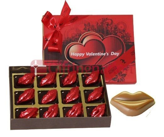 Chocolate Gift Box Dozen Kisses- 12 milk chocolates - Giftingnation
