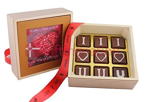 Chocolate Love Box 9 Chocolates - Giftingnation