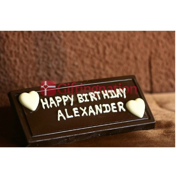 Happy Birthday Personalised Chocolate Gift Box (200 Grams) - Giftingnation
