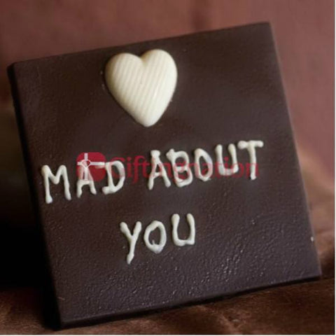 Mad About You Personalised Chocolate Gift Box (100 Grams) - Giftingnation