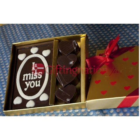 Romantic I Miss You Chocolate Gift Box - Giftingnation