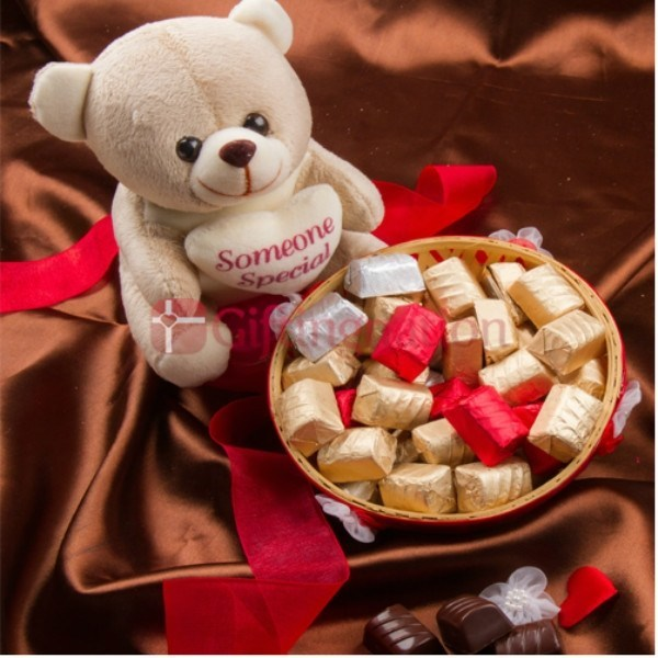 Someone Special Teddy Bear Chocolate Gift Hamper - Giftingnation