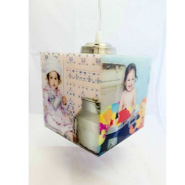 Personalised Cube Shape Hanging Photo Lamp - Giftingnation - 1