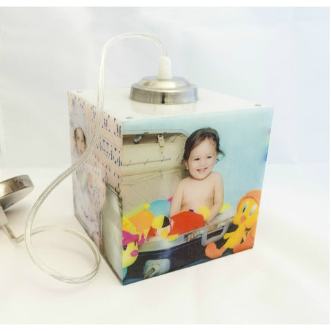 Personalised Cube Shape Hanging Photo Lamp - Giftingnation - 2