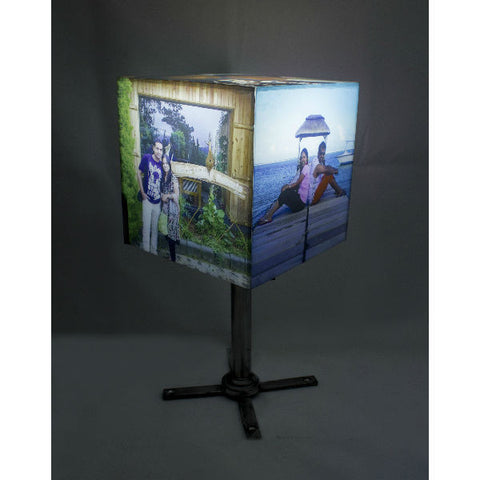 Personalised Cube Shape Photo Lamp w/Stand - Giftingnation - 2