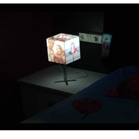 Personalised Cube Shape Photo Lamp w/Stand - Giftingnation - 1