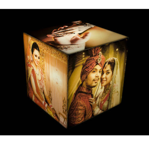 Personalised Cube Table Photo Lamp - Giftingnation - 1