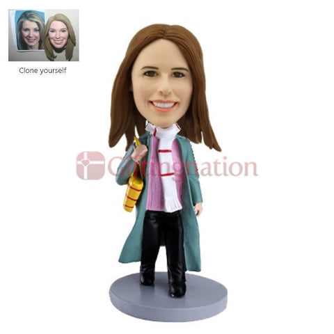 Casual Dressed Woman Custom Bobblehead - Giftingnation